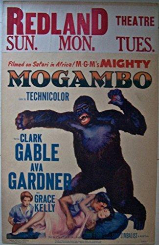 MOGAMBO '53 WC GABLE ~ GARDNER GRACE KELLY W/GUN IN HAND A GIANT APE ~ WOW