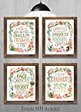 Gifts for Harry Potter fans! - Set of 4-8''x10'' Prints - Harry Potter Quotes and Sayings (HP Wreath)