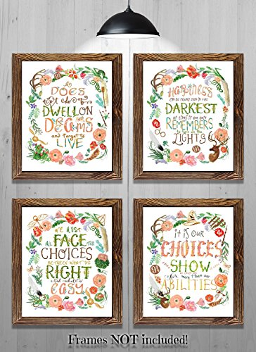 Harry Potter Quotes - Gifts for Harry Potter fans! - Set of 4-8