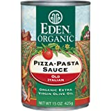 Eden Organic Pizza Pasta Sauce, Extra Virgin Olive Oil, 15-Ounce Cans (Pack of 12)