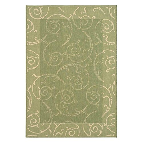 Transitional Rug - Courtyard Polypropylene -Olive/Natural Olive/Natural/Transitional/3' 7''L x 2'W/Accent Fine Sisal Rug