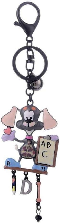 DFGHU Llaveros Charms Animal Dog Key Ring Llavero Negro Lindo En Llaves Bolsos Accesorios Regalos del Día del Padre Baratijas Llaveros para Mujeres Y Hombres