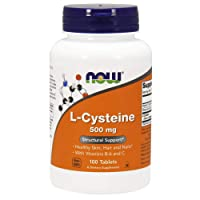 NOW Supplements, L-Cysteine 500 mg with Vitamins B-6 and C, Structural Support*,...