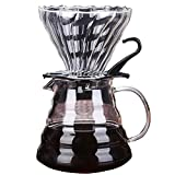 Pour Over Coffee Maker Reusable Stainless Steel Mesh Glass Filter Coffee Dripper