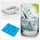 Vistaric Silicone Titanic Shaped Ice Cube Trays Carving Mold Mould Maker For Party Drinks