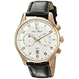 Lucien Piccard Men's LP-11187-RG-02S Navona Analog Display Quartz Black Watch