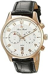 Lucien Piccard Men's LP-11187-RG-02S Navona Analog Display Quartz Black Watch