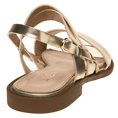 SOLESISTER Hale Sandals Gold Gold iP27U