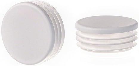 bouchon pour tube rond 16 mm gris plastique Embout bouchons dobturation 5 pcs