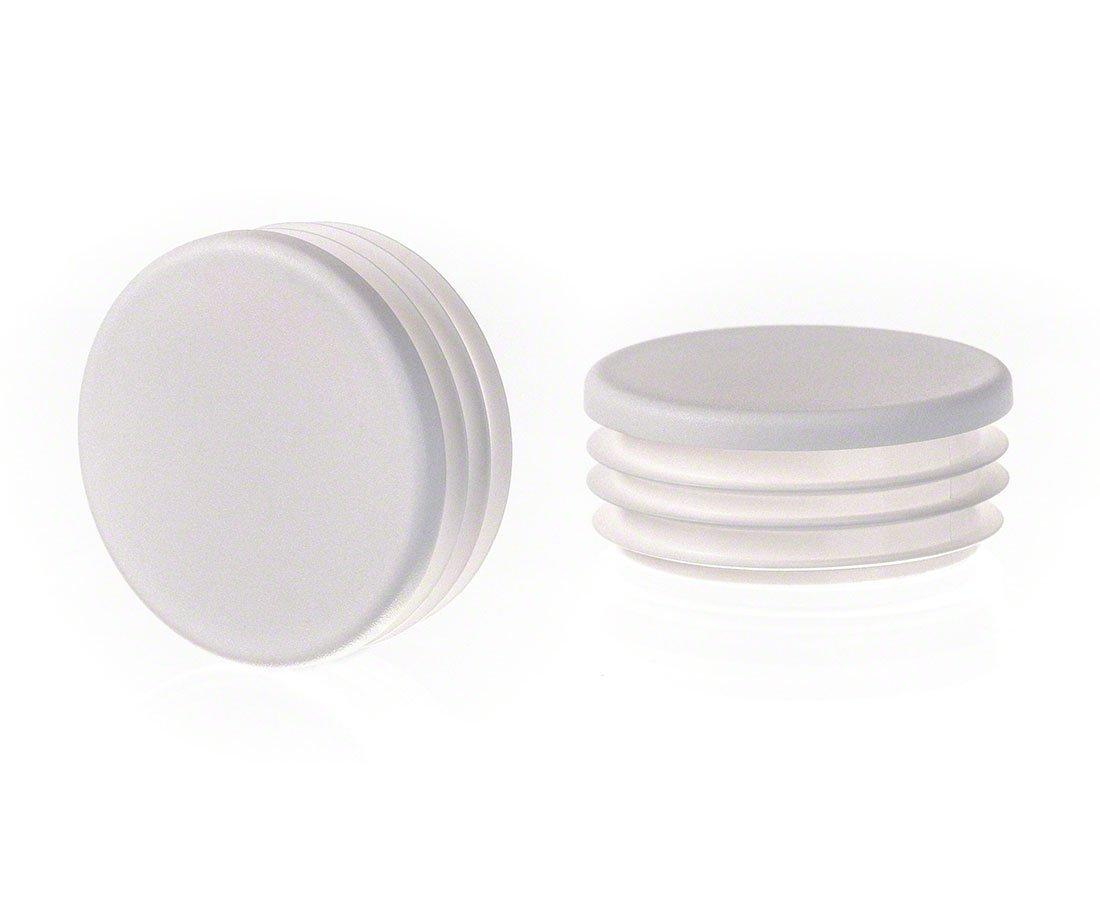 Rundstopfen 20 Wei/ß Kunststoff Endkappen Verschlusskappen 1 Stck