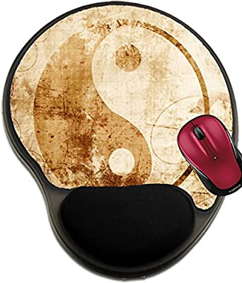 Liili Mousepad wrist protected Mouse Pads/Mat with wrist support design Yin Yang sign with some highlights and reflections IMAGE ID 15009516