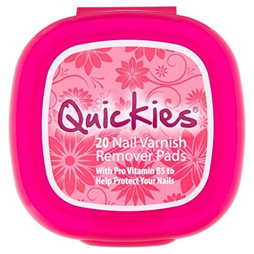 Quickies Nail Varnish Large Remover Pads 20 per pack by Quickies