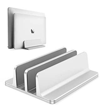 Aluminum Vertical Laptop Stand Thickness Adjustable Desktop NoteBooks Holder