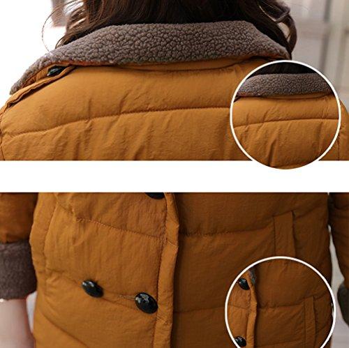 Automne Épaissir Chaud Epais Jacket Femmes Manteau Veste Brown Hiver Casual Parka Wanyang TvqaxAw