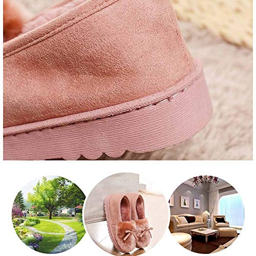 Low Cotton Fluffy Women Da Top Lady Brown Casa Calore Fondo Neve Donna Closed Pantofole Indoor For Spesso Fashion Shoe 6wvxxO