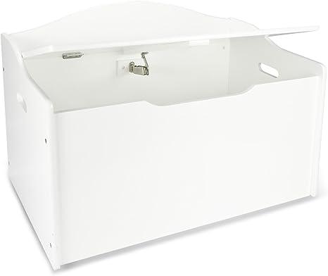 Leomark Caja de Madera XL Banco Blanco con Almacenamiento para Juguetes, Accesorios Baúl de Juguetes, Color Blanco, Dim: 68 x 42 x 46 (alto) cm: Amazon.es: Hogar