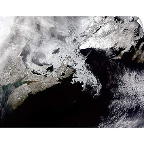 CANVAS ON DEMAND Sea ice Fills The Gulf of St Lawrence Giving The Landscape a Wintery Appearance Wall Peel Art ()