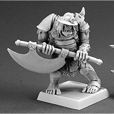 Reaper Gologh The Vicious, Orc Captain Warlord Miniature: Toys & Games