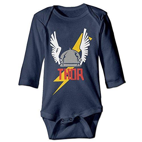Baby Onesies Thor Superhero Logo Long Sleeve Baby (Thor Outfits)