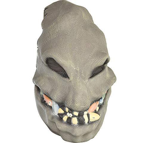 Party City Nightmare Before Christmas Oogie Boogie Mask Halloween Accessory for Teens and Adults, One Size -