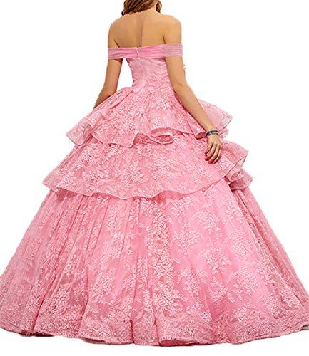 Abendkleider Abschlussballkleider Lang Linie Formalkleider Partykleider Damen Spitze Rot A Charmant Festlichkleider q0U6EwBnUY