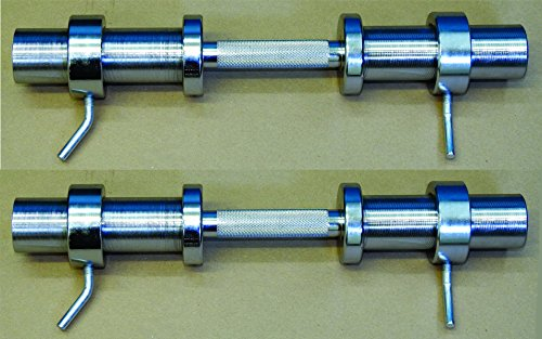 TDS Olympic Dumbell Bars with professionally knurled Handle, with Spiral finish on both sleeves for extra grip. Sold as a pair by TDS