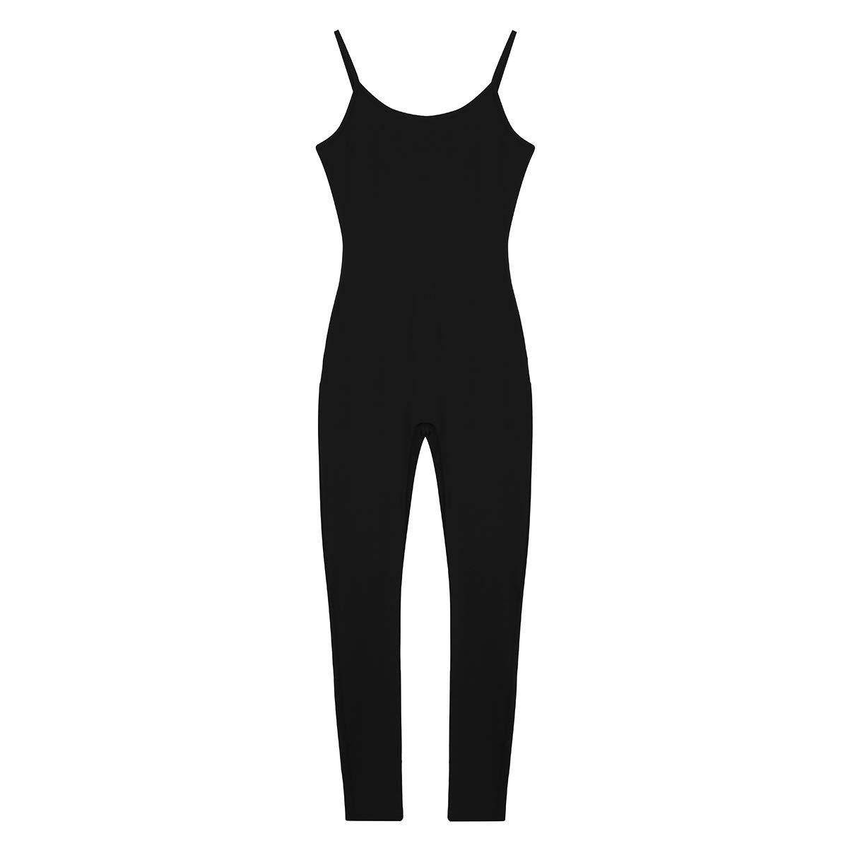 Freebily Femme Justaucorps Danse Ballet Classique sans Manches Adulte D/ébardeur Combinaison de Danse Yoga /à Pied Bretelle Stretchy Jumpsuit Solid Unitard S-XL
