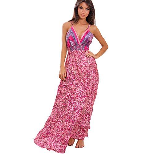 sexy IE Vestito leggero boho chic 63 lungo 10 donna Fantasia gipsy Ibiza Toocool abito etnico mini 1 PxB7dv0wq