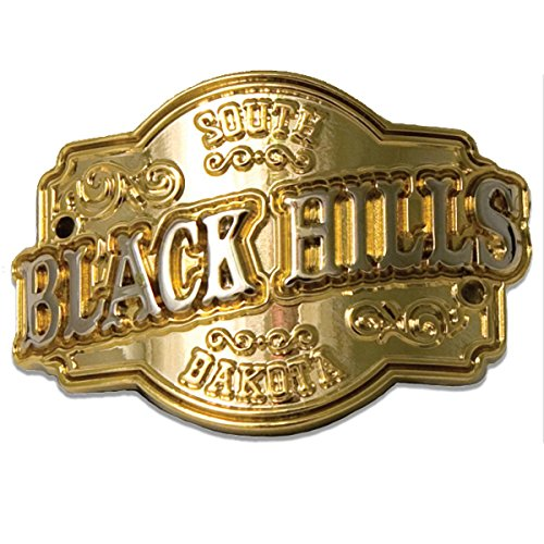 South Dakota Black Hills souvenir gold walking stick cane medallion