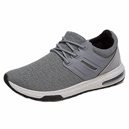 XLD Men's Runner Shoes Fashion Breathable Sneakers Mesh Soft Sole Casual  Athletic Lightweight(Grey EU41