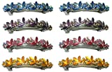 2 Sets of 4 Crystal Flower Barrettes, Total 8 Barrettes YY86750-3-4-2