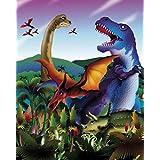 Posters: Dinosaurs Poster Art Print - Tyrannosaurus Rex, Diplodocus, Triceratops, Velociraptor (20 x 16 inches)