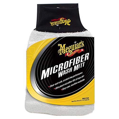 Meguiar's X3002 Microfiber Wash Mitt - Super-Thick Reusable Wash Mitt for Ultimate Finish (Best Hand Wash Car Wash)