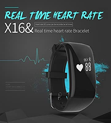 RG Waterproof Bluetooth Fitness Tracker Smartband Bracelet Heart Rate Monitor Wristband Pedometer Step Walking Distance Calorie Counter Smart Watch for iOS Android Smartphone