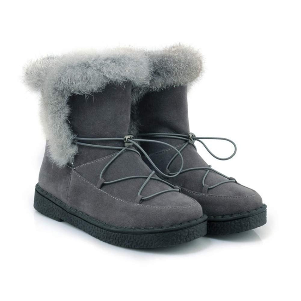 MHCDXGN Damen Schnee Stiefel Herbst Und Winter Niedrigen Schlauch Plus SAMT Dicken Casual Mode Student Stiefel