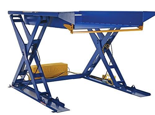 36 Hydraulic Scissor Lift Table - Vestil EHLTG-5270-2-48 Ground Lift Scissor Table, 2000 lb, 10.4375