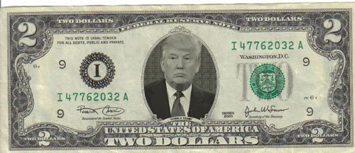Donald Trump $2 Dollar Bill Mint! Rare! $1
