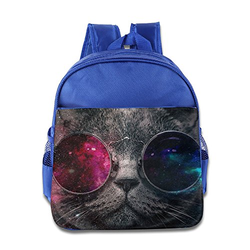 Galaxy Cat With Sunglass Kids School Backpack - Lovato Demi Sunglasses