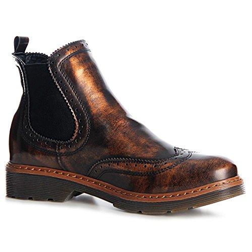 Bottines Boots Femmes Bronzé Chelsea Topschuhe24 qpZSPn