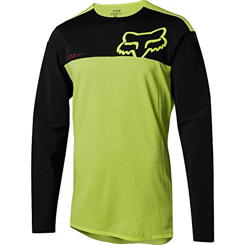 Fox Attack PRO Jersey (Yellow/Black, Medium)