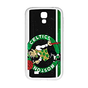 Boston Celtics NBA White Phone Case for Samsung Galaxy S4 Case