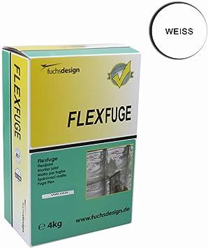 FUCHS - Maza flexible para juntas y juntas para bloques de cristal (4 kg), color blanco: Amazon.es: Bricolaje y herramientas