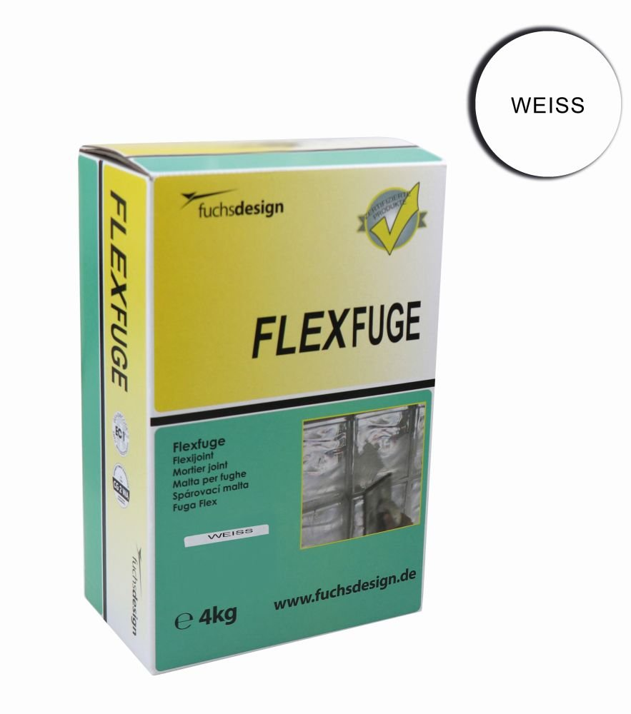 FUCHS Flex joint, jointing mortar, jointing compound for glass blocks - 4 kg white - different colours available Fuchs Design