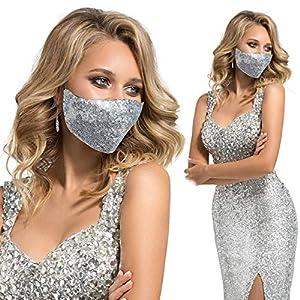 Silver Sequin Face Masks