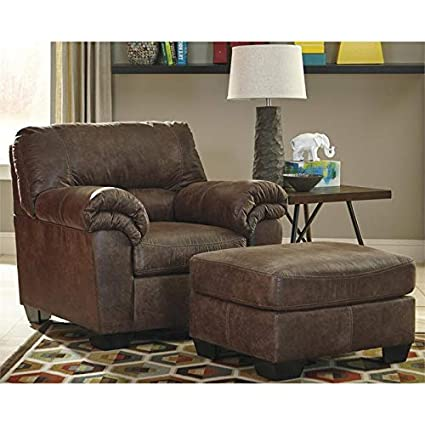 Pleasing Amazon Com Ashley Bladen Accent Chair With Ottoman In Dailytribune Chair Design For Home Dailytribuneorg