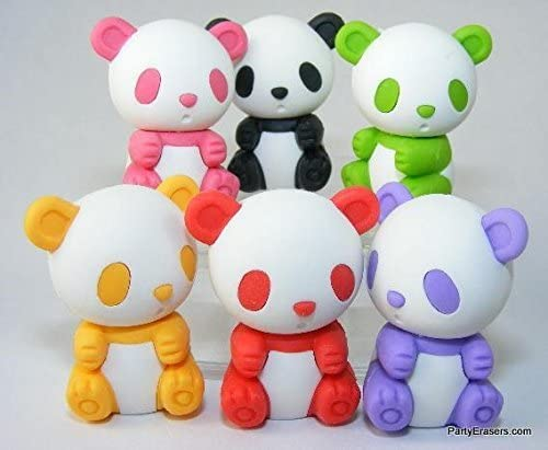 Iwako Japanese Panda Erasers - 6 pcs by Iwako [並行輸入品]