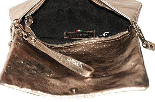 beige Sac Style Taupe Femmes En Portefeuille Cuir M2115 Bandoulière Pochette Italy Enveloppe q1axBTaAw