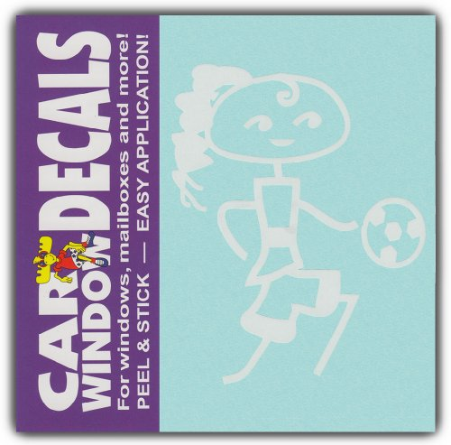 - Car Window Decals: Teen Girl Child Soccer Ball | Family Stick Figures | Stickers