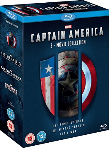 Captain America 3 Movie Collection [Blu-ray] [Region Free] (Blu Ray Captain America The Winter Soldier)