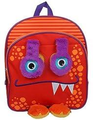 Flipeez Monster 14 Backpack Red Orange